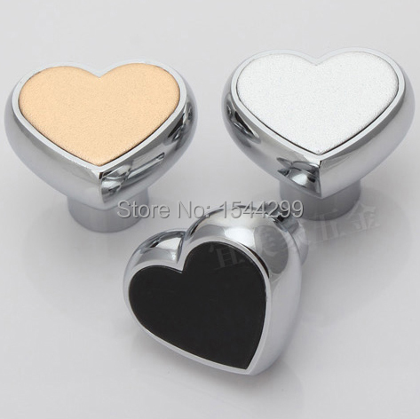 Гаджет  Hot selling single hole Zinc Alloy heart shape modern handle knob Kitchen Cabinet Furniture Handle knob None Мебель