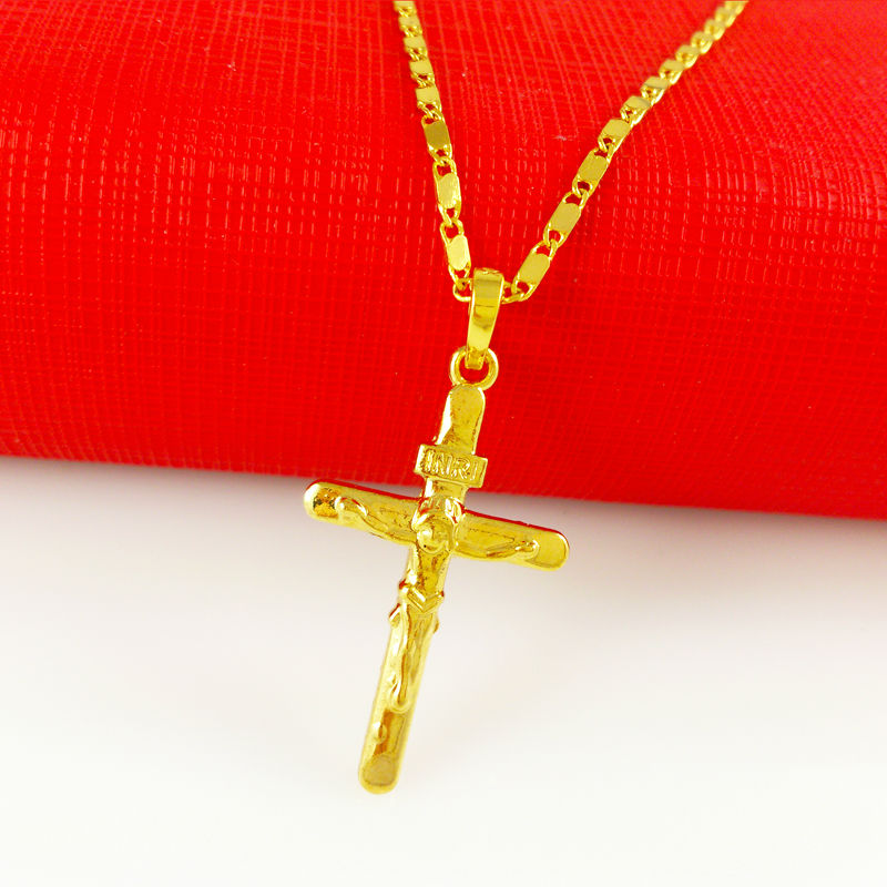 cross pendants necklace 24k gold chain new fashion jewelry for men women Fast and Furious Free shipping high quality WA056(China (Mainland))