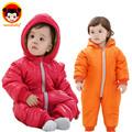 2015 Hot winter children down jacket baby girl clothes split style baby boy romper fashion baby