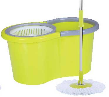 2015 new Microfiber Spining Magic Spin Mop Bucket 2 Heads Rotating Easy Floor Mop(China (Mainland))