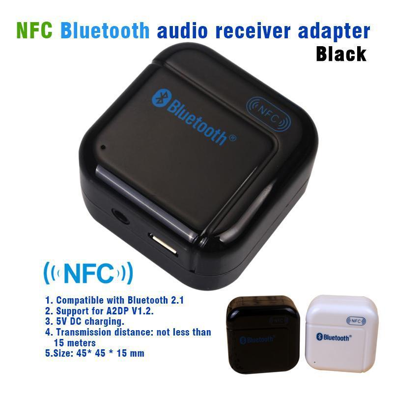 NFC Mini Bluetooth Stereo Audio Receiver Wireless Music Receiver Adapter With 3.5MM Aux For iPhone Samsung iPad iPod(China (Mainland))