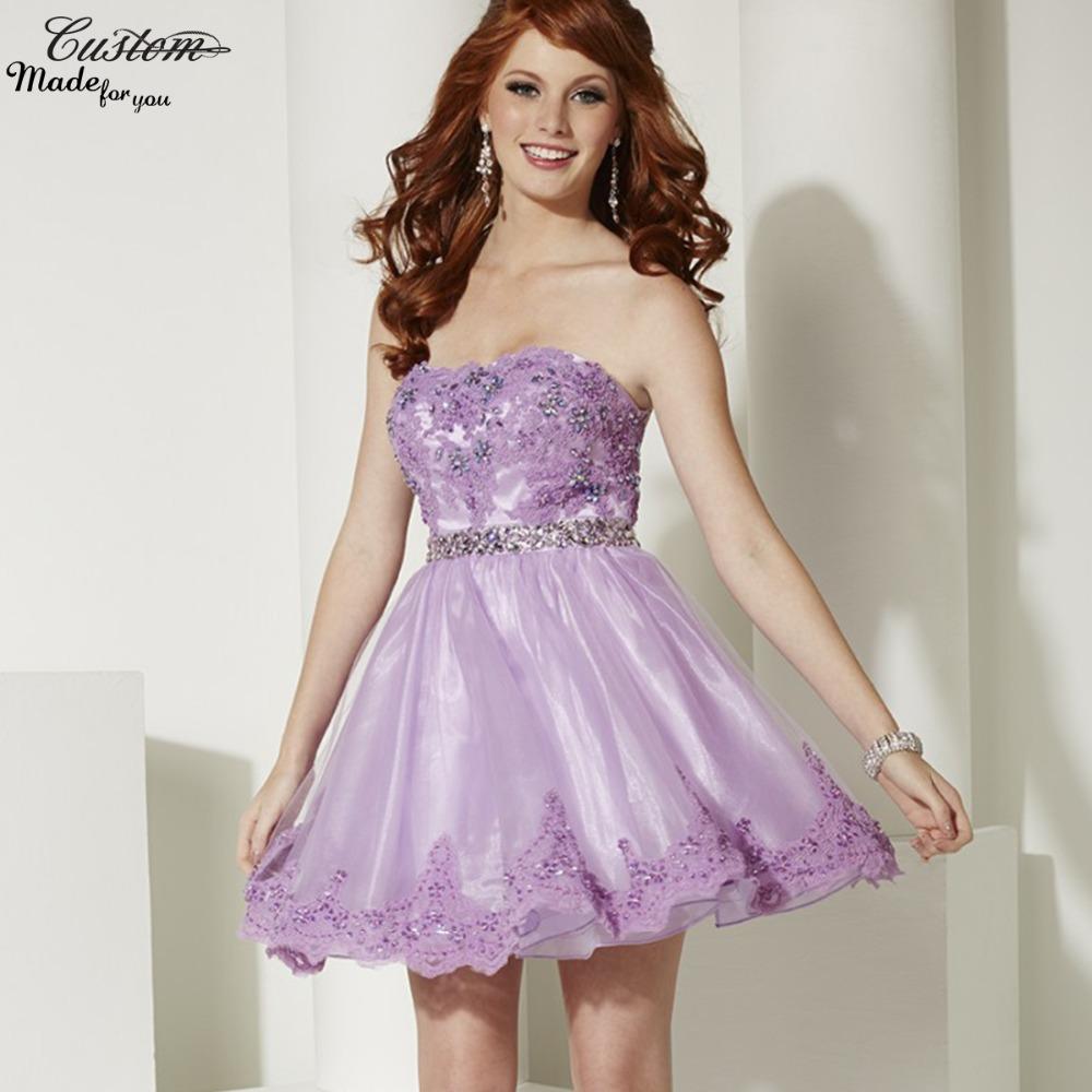 High Quality Short Prom Dress Lavender-Buy Cheap Short Prom Dress ...