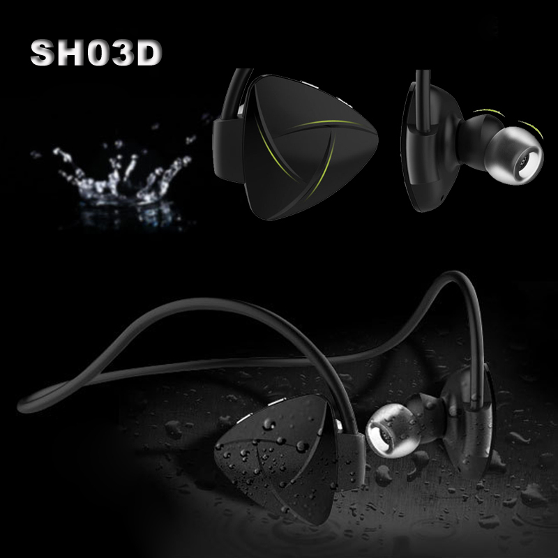 SH03D Wireless Bluetooth 4.0 Headset Stereo NFC Handsfree Sport Earphone MP3 Media Player Voice Reminder Sweatproof Self Timer(China (Mainland))