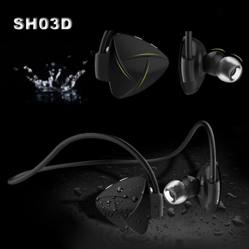 SH03D Wireless Bluetooth 4.0 Headset Stereo NFC Handsfree Sport Earphone MP3 Media Player Voice Reminder Sweatproof Self Timer(China (Mainland))