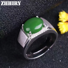 Man's ring Natural Jasper rings jade gem stone genuine solid sterling silver gold plated men Jewelry(China (Mainland))