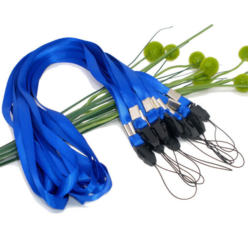 Wholesale Blue Neck Strap Lanyard 45cm for Camera Cell Phone ID Card DIY Office Supplies 250Pcs/lot<br><br>Aliexpress