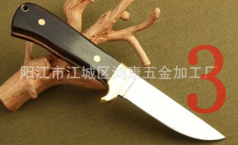 Buy Outdoor Tool Camping  Knife Save Survival Knife  Field Portable Tool Multi-function Hunting Straight Knives cheap