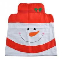 Fashion Christmas Decoration 50*60cm 4pcs Different Style Chair Covers Christmas Snowman Style Cartoon Chair Covers Set(China (Mainland))