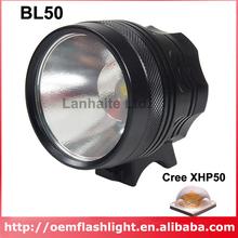 UF BL50 Cree XHP50 White 6500K 2500 Lumens 5-Mode LED Bike Light - Black(China (Mainland))