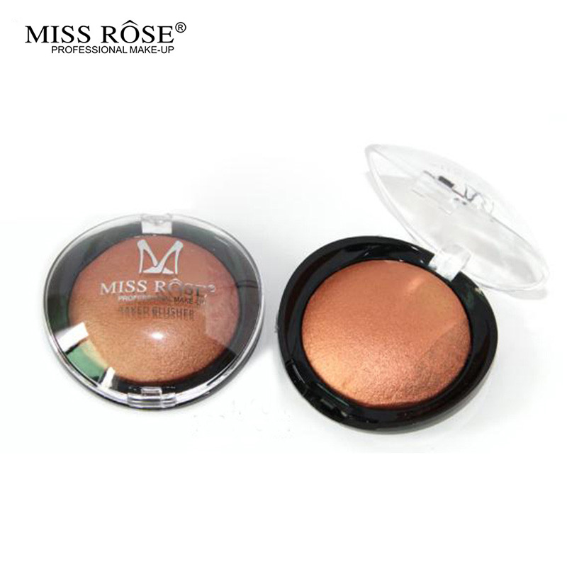 Miss Rose 2016 New Beauty Face Blush Powder Makeup Baked Cheek Color Bronzer Blusher Palette colorete Sleek Cosmetic Shadow(China (Mainland))