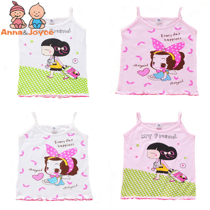 Free Shipping 3pcs/lot 2017 Girls Tanks Children Vest Beach Clothing Baby Girl Summer Wear Tops Good Quality