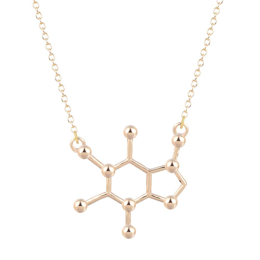 aliexpress buy caffeine molecule necklace za