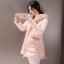 Korean Star Style 2015 Winter New Parka Jackets Women Long Hooded With Zipper Pockets Thicken Outwear Cotton-Padded Coat Y421