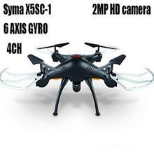 Syma X5SC RC airplane Quadcopter 6-Axis Drone 2.4Ghz 6Axis Gyro UFO With 2MP HD Camera AV RTF Dron Black