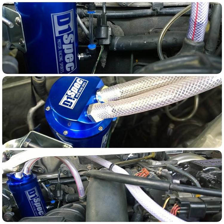 Купить Универсальный 10 мм D1 Spec Turbo Моторное Масло Поймать Танк Может Водохранилище Производительность RS-OCC001