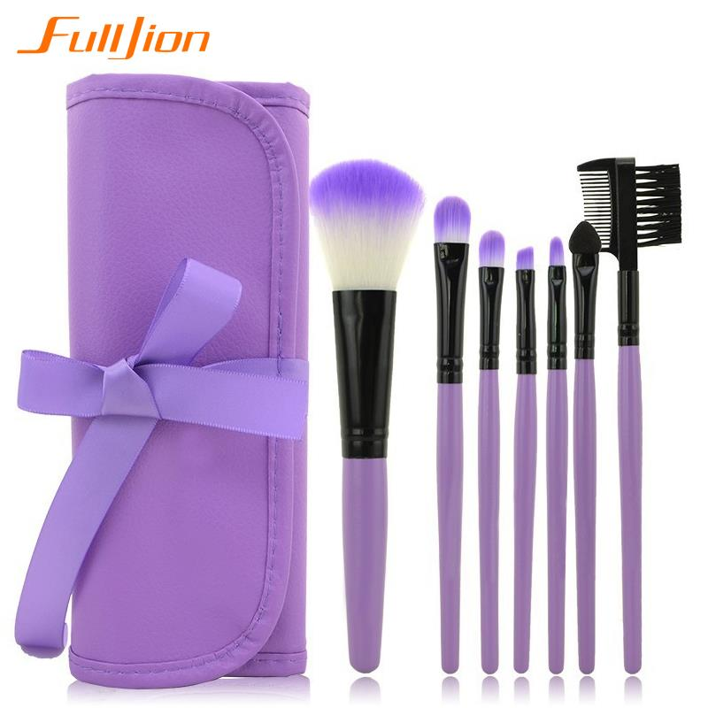 Professional 7 pcs Makeup Brushes Toiletry Make up tool Kits mc Wool Brand brush for face accessories Case Cosmetics Set(China (Mainland))
