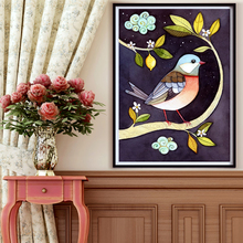 5d diamond embroidery birds and flowers Square Resin Rhinestone pasted diamond painting cross stitch crystal mosaic home decor