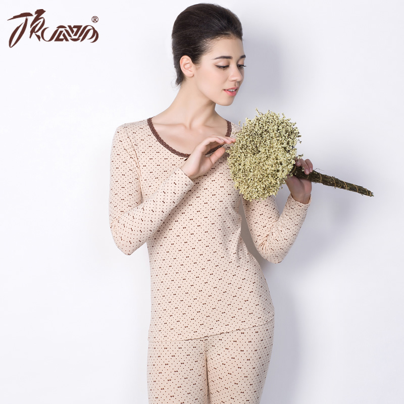 Winter Thermal Underwear Women 2015 New Arrival High Quality Sexy Slim Comfortable Casual Warm Top And Pant Long Johns DNLWD(China (Mainland))