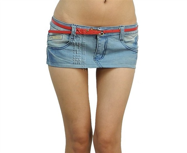 Denim Short Skirt - Dress Ala
