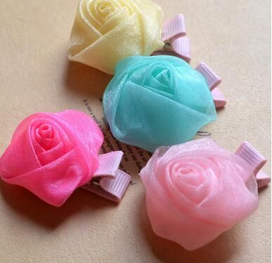 Pet Hairpin Fashion Cute Rose Pets Dog Hair Accessories Clips Pet Accessories(China (Mainland))