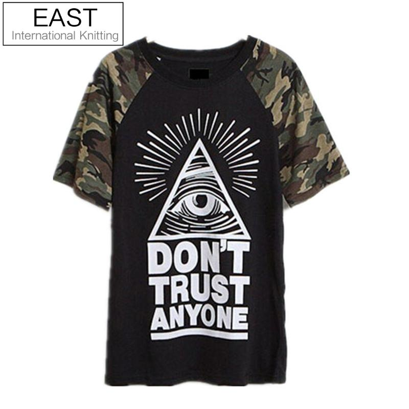 EAST KNITTING CC046 Summer 2014 New fashion women t-shirt Eyes and camouflage printed t shirt women clothing free shippingОдежда и ак�е��уары<br><br><br>Aliexpress