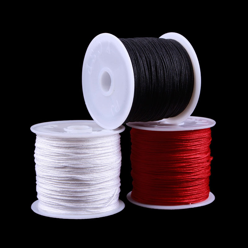 1 Roll 45M Nylon Cord Thread Chinese Knot Macrame Braided Cord 0.8MM #40932(China (Mainland))