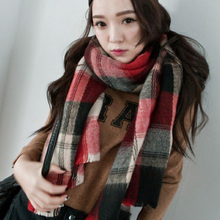 NEW Winter all-match Girls Ladies Blanket big size Tartan Scarf Plaid Checked Scarves Soft Warm cover up FEAL S189