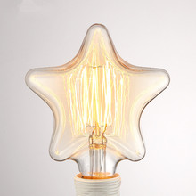 Buy Retro Lamp E27 Christmas Lights Indoor Vintage Star Shape Edison Bulb Filament Incandescent Lamp Decorative Light Bulb Home for $5.90 in AliExpress store