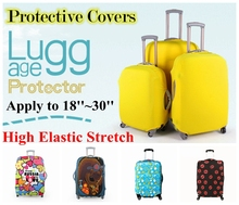 Free Shipping Travel on Road  Luggage Cover Protective For Trunk Case Covers Apply to 18''~30''Suitcase Thick Elastic  Perfectly(China (Mainland))