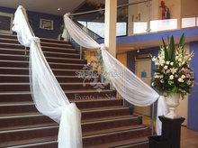 75 CM *1000 CM Banquet Chair cover sashes DIY Wedding Party Decor Hotel Escalator Organza Roll mesh(China (Mainland))