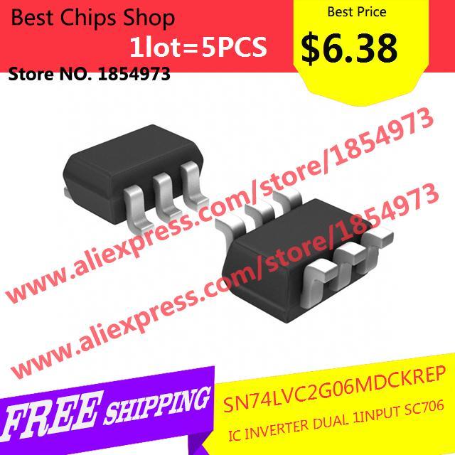 Free Shipping 5PCS=$6.38 Electronic Kit SN74LVC2G06MDCKREP IC INVERTER DUAL 1INPUT SC706 LVC2G06 74LVC2G06(China (Mainland))