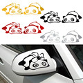 Dependable Fashion Panda Design 3D Decoration Sticker For Car Side Mirror RearviewMa18