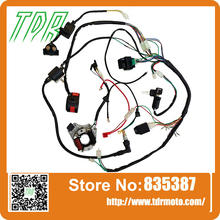 COMPLETE ELECTRICS - ATV QUAD 50/70/110/125cc ,coil,cdi harness WIRING HARN A2(China (Mainland))