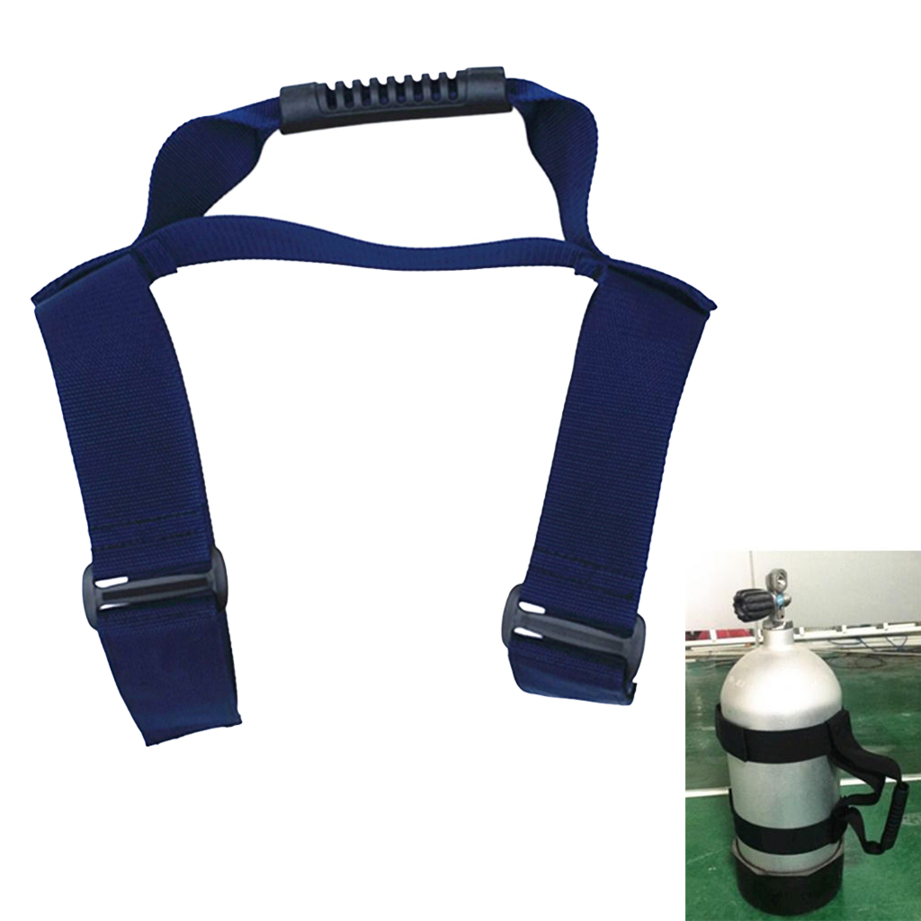 Heavy Duty 2\`\` Webbing Tank Cylinder Carrier Holder Strap with Handle for Scuba Diving and Snorkeling Dive Tank Carrier