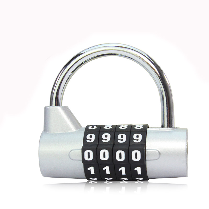 1 pcs gym locker luggage coded lock Anti-Theft padlock Digit Number Closet traveling case Combination(China (Mainland))