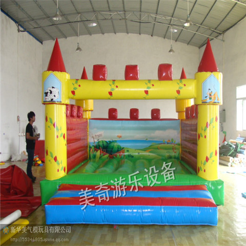 Child inflatable indoor playground infant trampoline jumping trampoline green inflatable(China (Mainland))