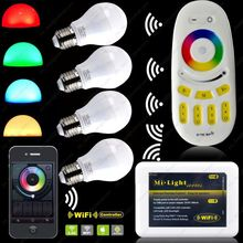 Smart LED Bulb + 4-Zone RF Touch Scree Remote Controller + Wifi Controller