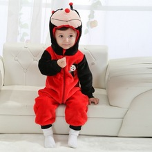 Autumn Winter Baby Clothes Flannel Baby Boy Clothes Cartoon Animal Girl Jumpsuit Carters Baby Rompers Baby Clothing XYZ15088(China (Mainland))