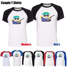Eric Theodore Cartman in South Park Funny Design Printed T-Shirt Men's Boy's Graphic Tops Blue or Black Sleeve