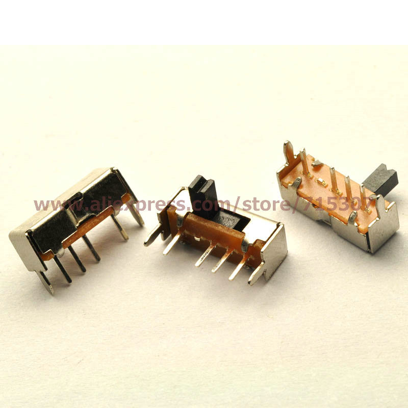 Free shipping 20pcs SK13D07VG4 on-off-on small toggle switch with stand 4MM handle height 4pin(China (Mainland))
