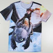 Men Regular T-shirts Top Summer New Shirts Men Round Neck Casual Cartoon Sportswear Tees How To Train Your Dragon T Shirts