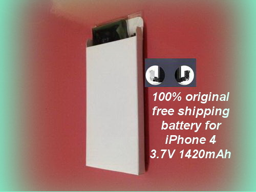 Free shipping DHL 600pcs/lot 2015 wholesale Betteries 1420mah 3.7v Built-in Battery For iPhone4 Mobile phone Battery(China (Mainland))