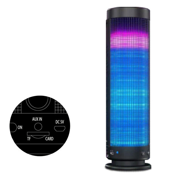 Wireless Bluetooth 4.0 7 Colors LED PULSE Bluetooth Speaker Party Music Player(China (Mainland))