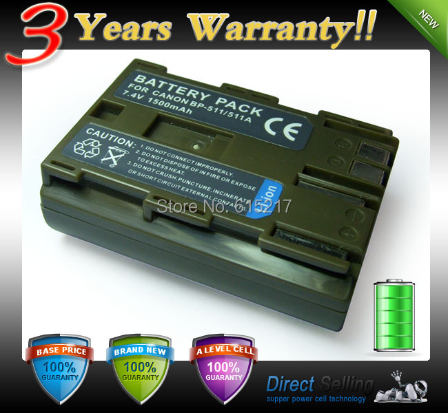 3 Years Warranty! Rechargeable Li-ion Battery Pack For CANON BP-535 BP535 BP 535 Digital Concepts BP522CL CB511(China (Mainland))