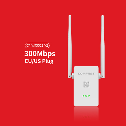 WIFI Repeater 802.11N/B/G Network Adapter2.4G Router Wifi 300M Dual 5dBi Antenna Signal Booster COMFAST CF-WR302S-V2(China (Mainland))