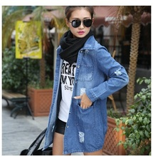 High quality ladies wear cowboy long easy leisure trench coat
