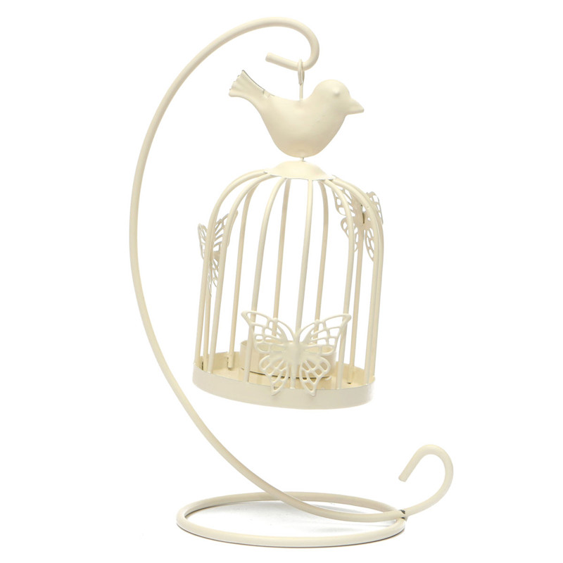 Newest Hanging Design Metal Vintage Butterfly Pattern Lantern Candlestick Wedding Home Decor Bird Cage Candle Holder(China (Mainland))
