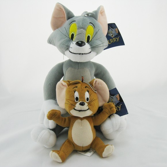 Free-Shipping-Tom-and-Jerry-Soft-Plush-Toy-Doll-Cute-2pc
