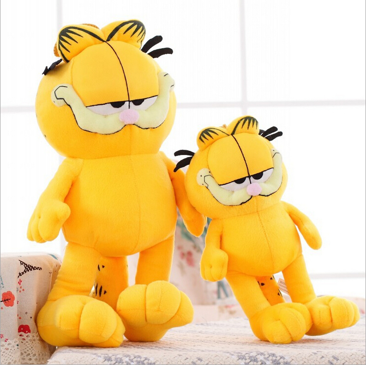 20CM New Arrival Cute Cartoon Figures Garfield Cat Plush Toys Soft Stuffed Dolls Gifts for Kids Girlfriends Christmas PT008(China (Mainland))