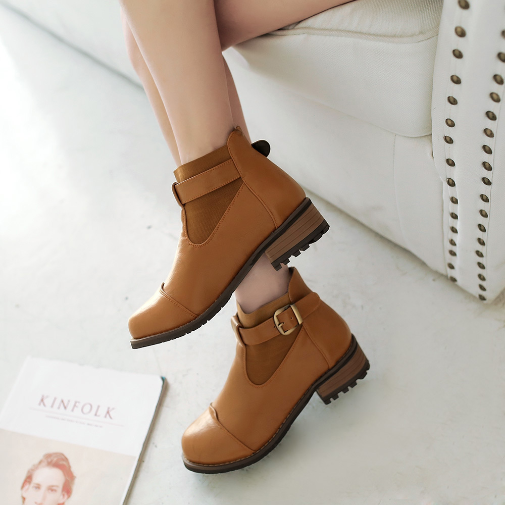 2015 new winter patchwork design slip-on ankle boots breath comfortable warm leisure metal buckle ankle boots size 34-39R171<br><br>Aliexpress
